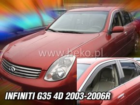 Ofuky oken Infiniti G35 4D 2003-2006 přední + zadní