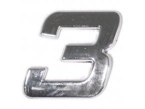 Znak 3 samolepící PLASTIC