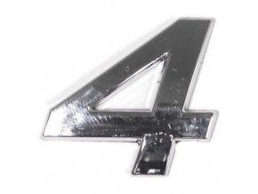Znak 4 samolepící PLASTIC