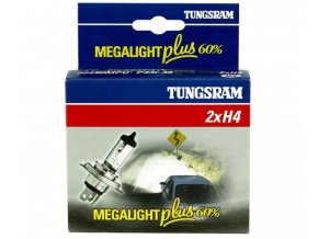 Autožárovka H4 60/55W Megalight+60% 12V P43t-38 sada 2ks