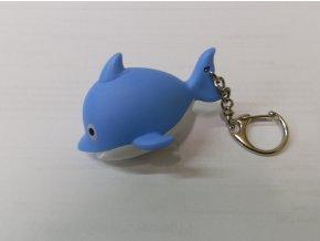 Svítící přívěsek na klíče- zvířátko Delfín