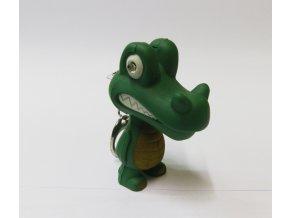 Svítící přívěsek na klíče- zvířátko krokodýl
