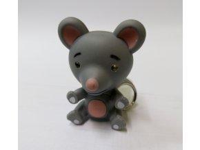 Svítící přívěsek na klíče- zvířátko Myš