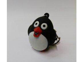 Svítící přívěsek na klíče- zvířátko Tučňák