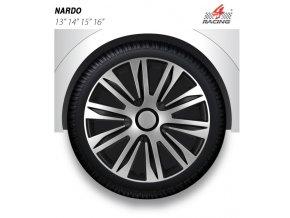 Kryty kol - poklice NARDO SILVER/BLACK R13