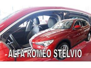 Ofuky oken Alfa Romeo Stelvio 5D 2017- přední + zadní