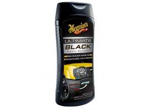 Meguiar's Ultimate Black Plastic Restorer oživovač a ochrana nelakovaných plastů v exteriéru i interiéru, 355 ml
