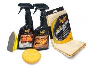 Meguiar's Heavy Duty Leather Care Kit kompletní sada na čištění a ochranu kožených povrchů