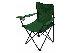 Židle kempingová skládací BARI zelená