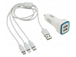 Nabíječka telefonu USB 3in1 (micro USB, iPhone, USB C)