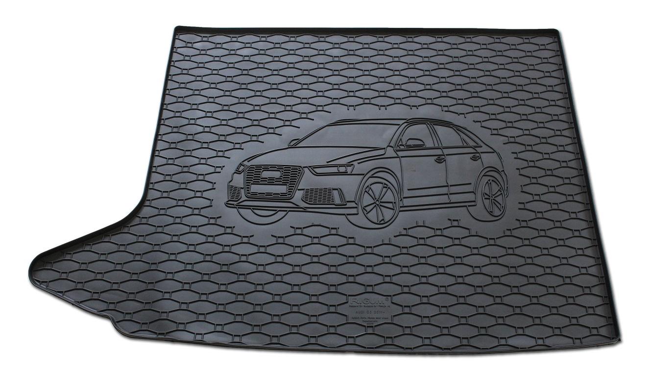 Vana do kufru gumová RIGUM Audi Q3 s dojezdovým kolem 2011-