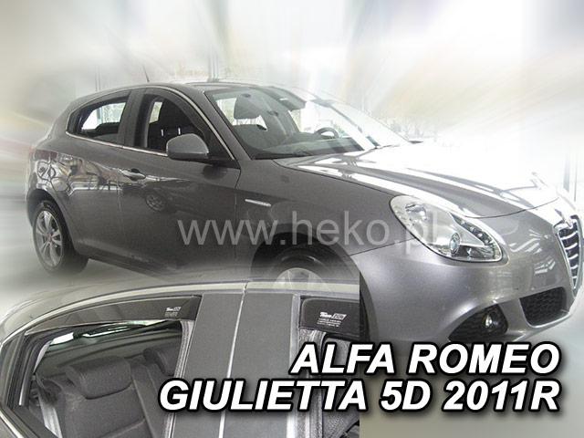 Ofuky oken Heko Alfa Romeo Giulietta 5D 2010- přední + zadní