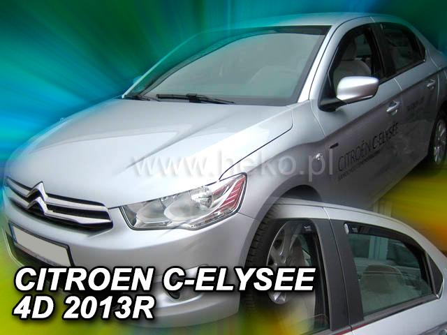 Ofuky oken Heko Citroen C-Elysse 4D 2013- přední+zadní