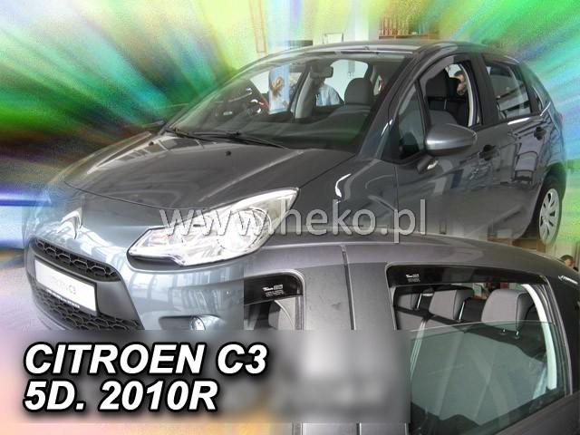 Ofuky oken Heko Citroen C3 5D 2010- přední + zadní
