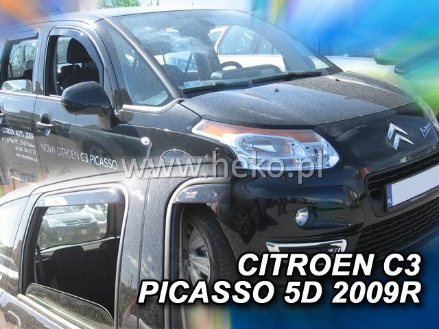 Ofuky oken Heko Citroen C3 Picasso 5D 2009- přední + zadní