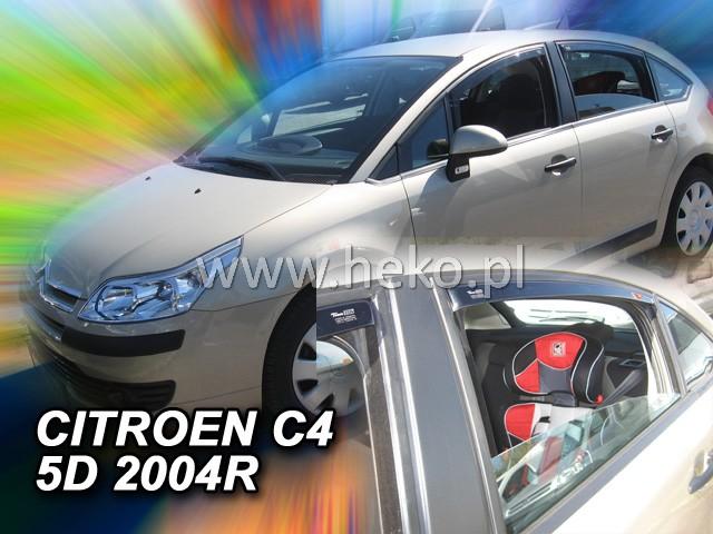 Ofuky oken Heko Citroen C4 5D 2004- přední + zadní