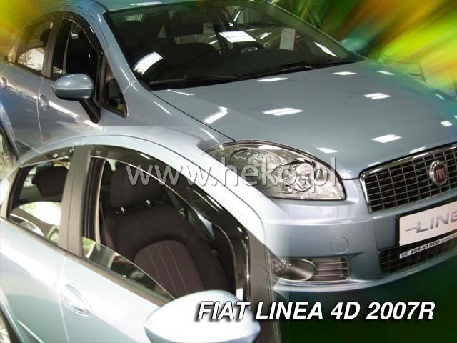 Ofuky oken Heko Fiat Linea 4D 2007- přední