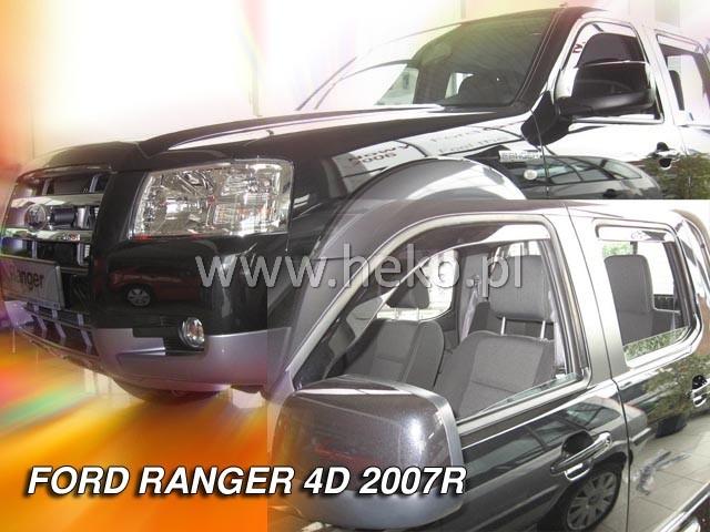 Ofuky oken Heko Ford Ranger 4D 2007- přední + zadní
