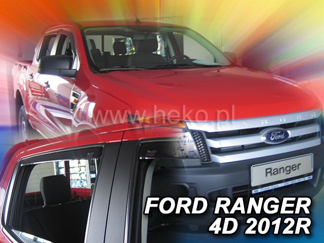 Ofuky oken Heko Ford Ranger 4D 2012- přední + zadní