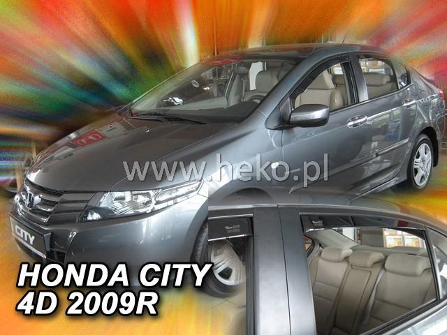Ofuky oken Heko Honda City 4D 2008- přední + zadní