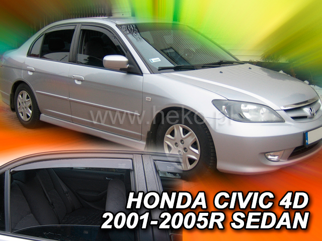 Ofuky oken Heko Honda Civic 4D 2001-2005 přední + zadní sedan