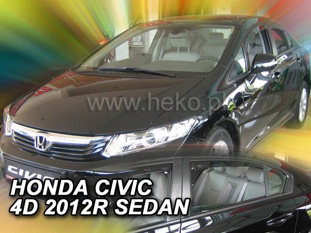 Ofuky oken Heko Honda Civic 4D 2012- přední + zadní sedan