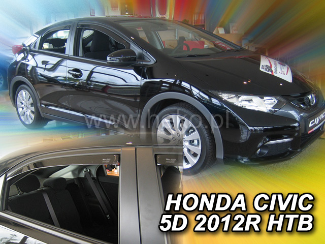 Ofuky oken Heko Honda Civic 5D 2012- přední + zadní Htb