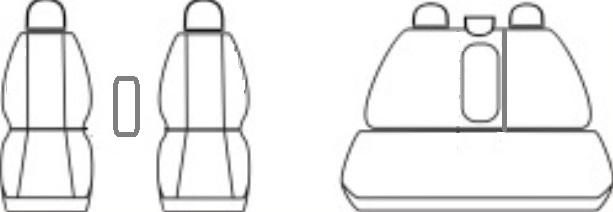 Ofuky oken Heko Hyundai Getz 5D 2002- přední + zadní