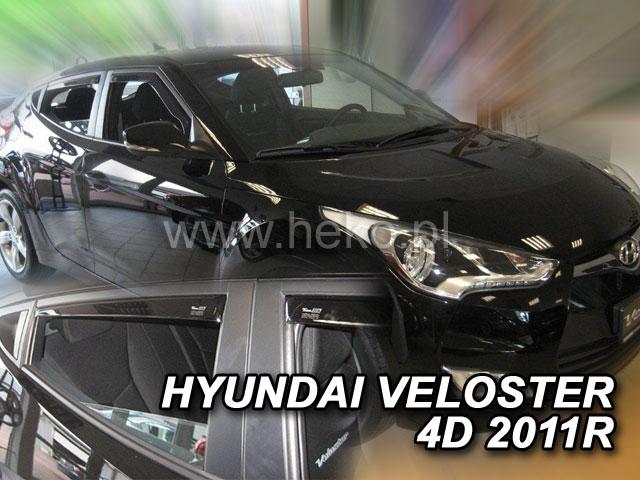 Ofuky oken Heko Hyundai Veloster 4D 2011- přední + zadní