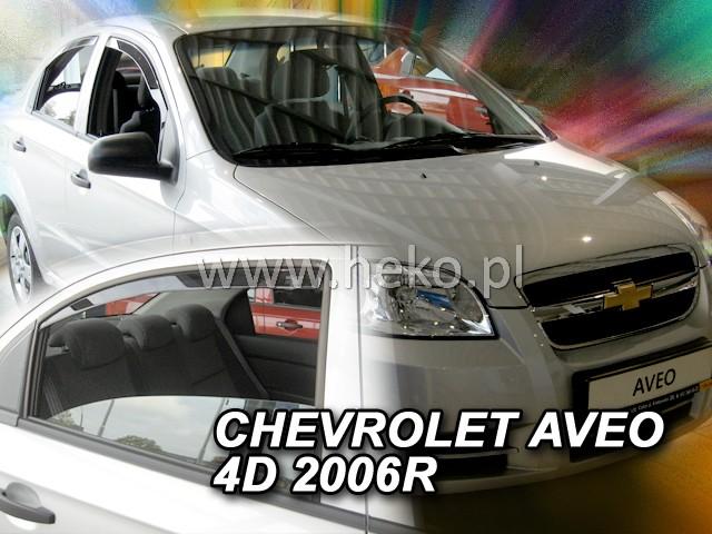 Ofuky oken Heko Chevrolet Aveo 4D 2007- přední + zadní sedan