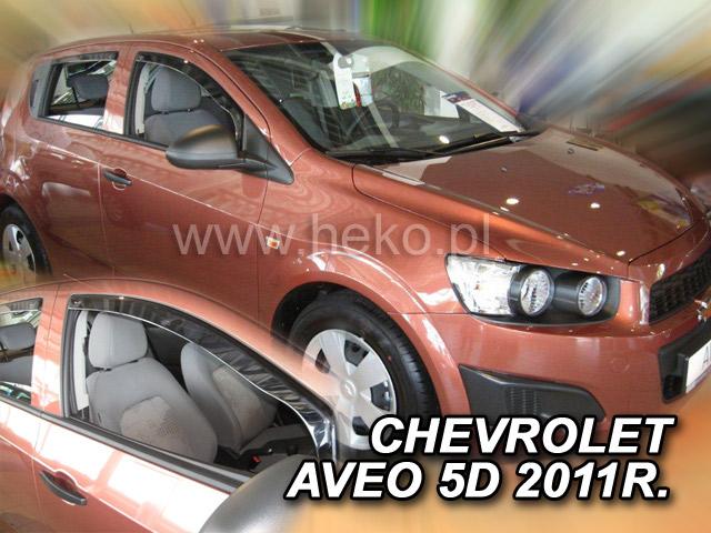 Ofuky oken Heko Chevrolet Aveo 5D 2011- přední