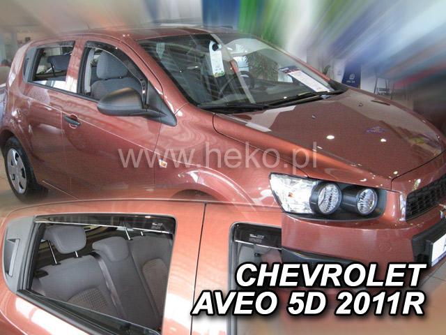 Ofuky oken Heko Chevrolet Aveo 5D 2011- přední + zadní