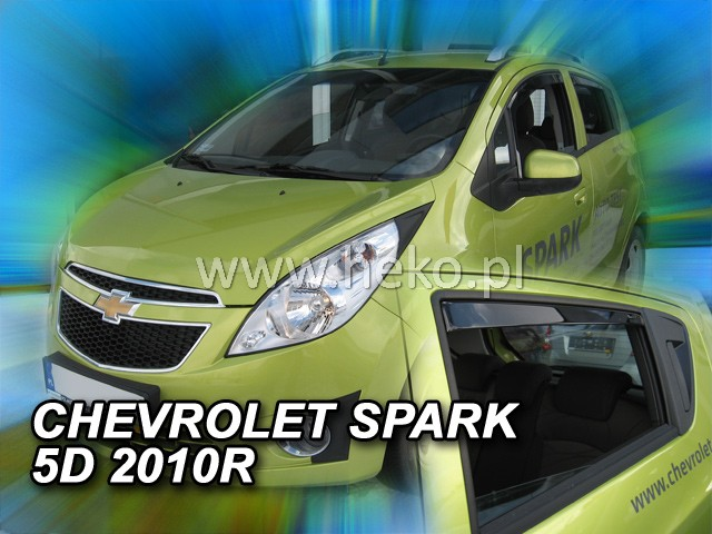 Ofuky oken Heko Chevrolet Spark 5D 2010- přední + zadní
