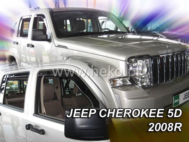 Ofuky oken Heko Jeep Cherokee 5D 2008- přední + zadní