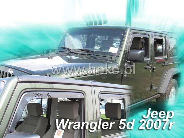 Ofuky oken Heko Jeep Wrangler 5D 2007- přední + zadní
