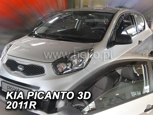 Ofuky oken Heko Kia Picanto 3D 2011- přední