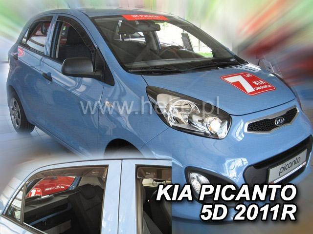 Ofuky oken Heko Kia Picanto 5D 2011- přední + zadní