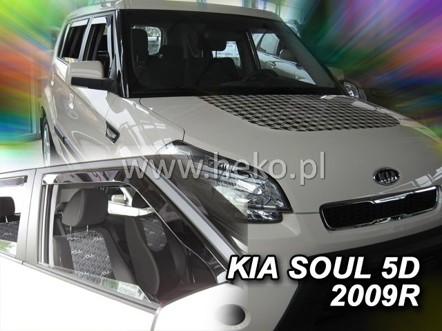 Ofuky oken Heko Kia Soul 5D 2005- přední