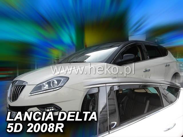 Ofuky oken Heko Lancia Delta 5D 2008- přední + zadní
