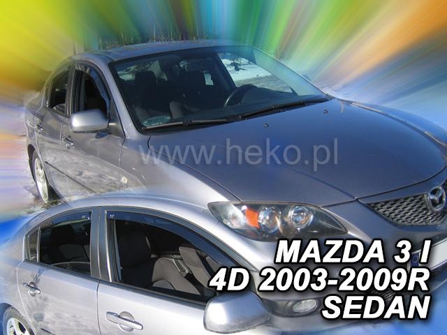 Ofuky oken Heko Mazda 3 4D 2003- přední + zadní sedan