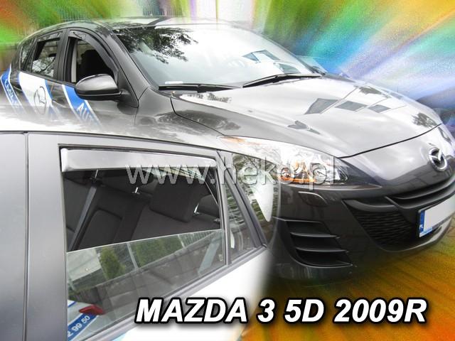 Ofuky oken Heko Mazda 3 5D 2009- přední + zadní htb