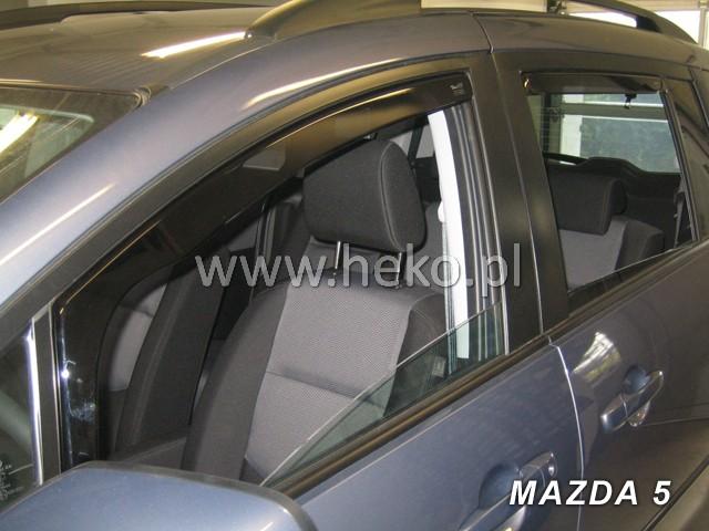 Ofuky oken Heko Mazda 5 5D 2006- přední + zadní