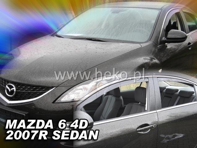 Ofuky oken Heko Mazda 6 4D 2007- přední + zadní sedan