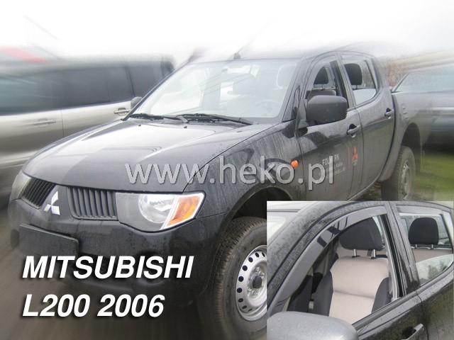 Ofuky oken Heko Mitsubishi L200 Double/Single Cab 5D 2006- přední + zadní