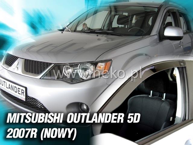 Ofuky oken Heko Mitsubishi Outlander 5D 2007- přední + zadní