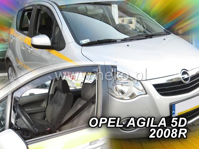 Ofuky oken Heko Opel Agila 5D 2008- přední