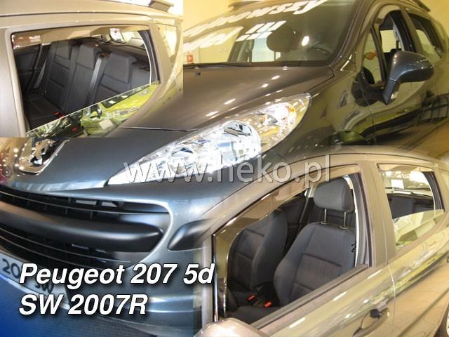 Ofuky oken Heko Peugeot 207sw 5D 2007- přední + zadní combi