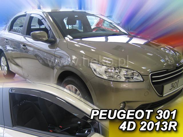 Ofuky oken Heko Peugeot 301 4D 2013- přední