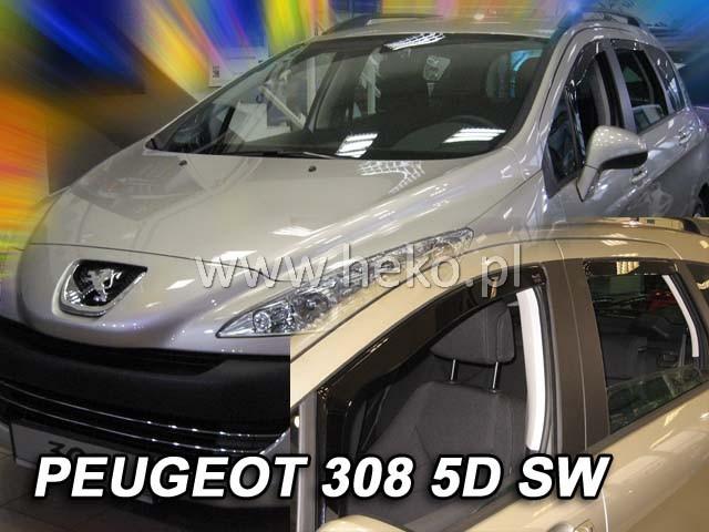 Ofuky oken Heko Peugeot 308sw 5D 2007- přední + zadní combi