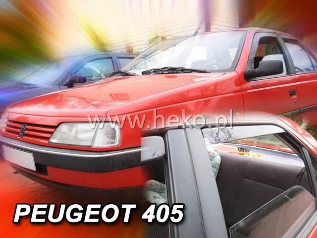 Ofuky oken Heko Peugeot 405 4D 1992- přední + zadní sedan